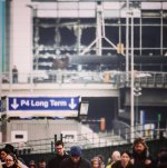 Zerstörter Flughafen in Brüssel